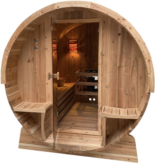 Fass Sauna 4 Personen 169x185x205_2