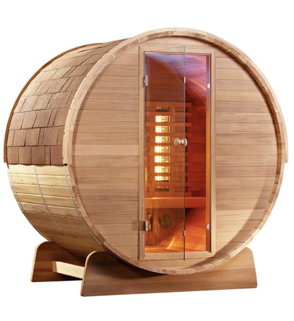 Fass Sauna - Infrarotsauna - 3 - 4 Personen 150cm_1