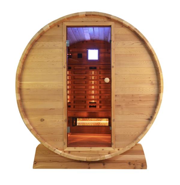 Fass Sauna - Infrarotsauna - 3 bis 4 Personen 150cm