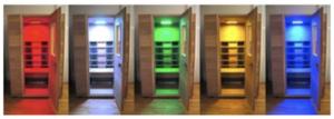 Farbtherapie Sauna zu Hause