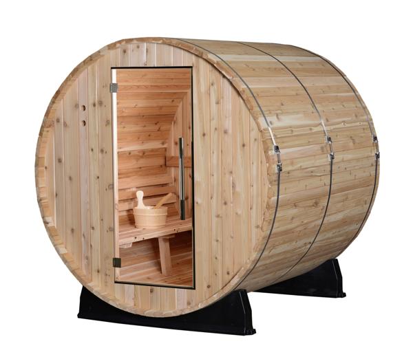 Fass Sauna traditionell 4 Personen Almost Heaven Pinnacle_vorn2