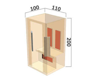 Infrarot Sauna Classic 2 Personen 110cm_3