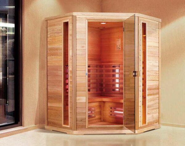 Infrarot Sauna Classic 4 Personen 150 x 150 x 200_exclusive5-base