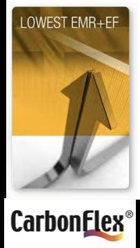 CarbonFlex® Niedrigsteverfügbare EMR und EF Werte