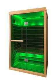 Tylö Infrarotsauna Farblichttherapie grün
